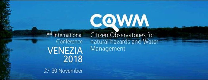 2nd International Conference Citizen Observatories for natural hazards and Water Management 27-30 November 2018, Venice